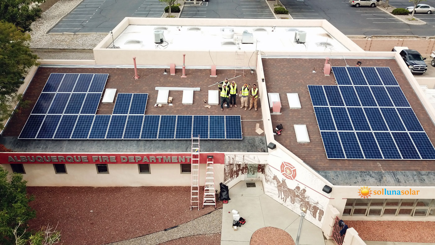 Albuquerque-Commercial-Solar-Panel-Installation,-September-2018