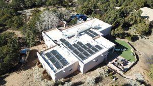 Roof Mounted Solar PV In Santa Fe