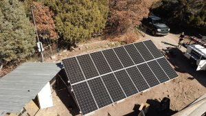 Ground Mount Residential Solar Installation