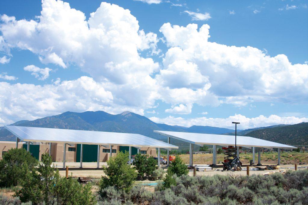 Taos Charter School, community Solar array