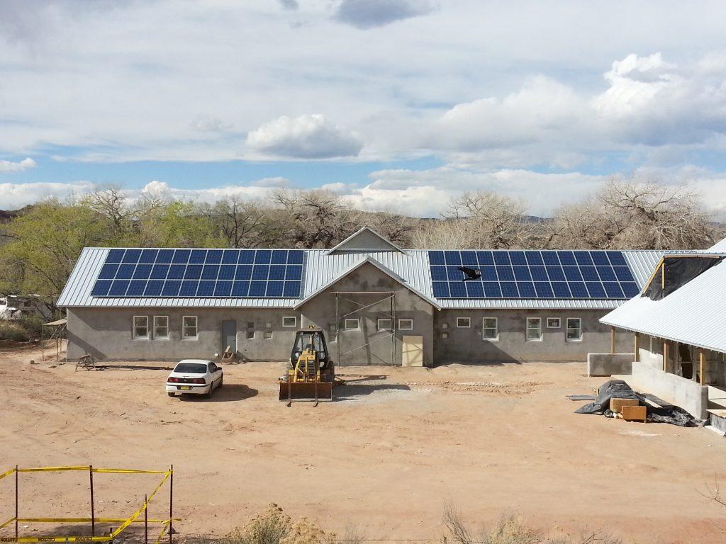 abiquiu health clinic commercial solar installation