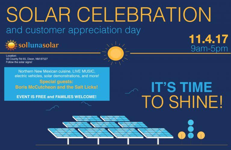 Solar Celebration Happening Saturday November 4th!