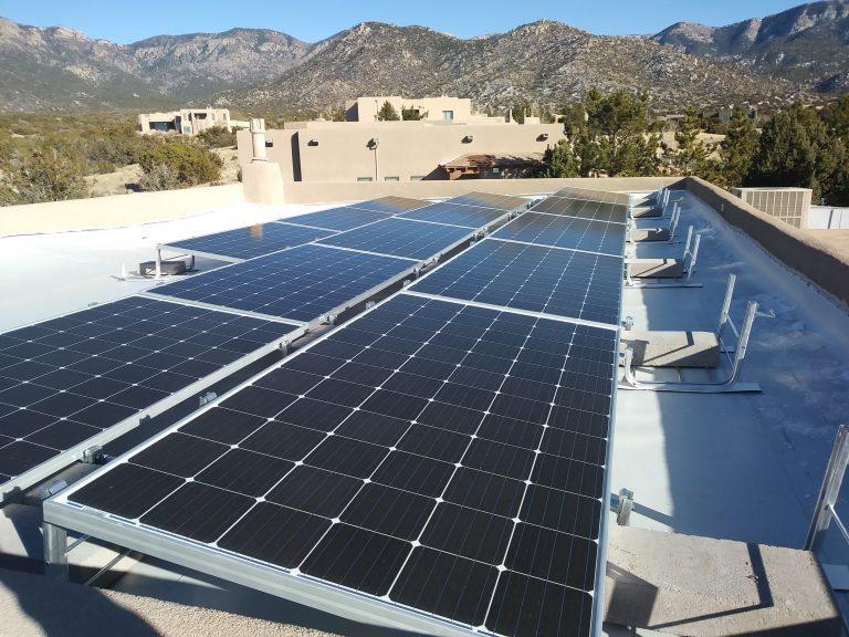 Albuquerque Solar Panel Installation, January 23, 2018