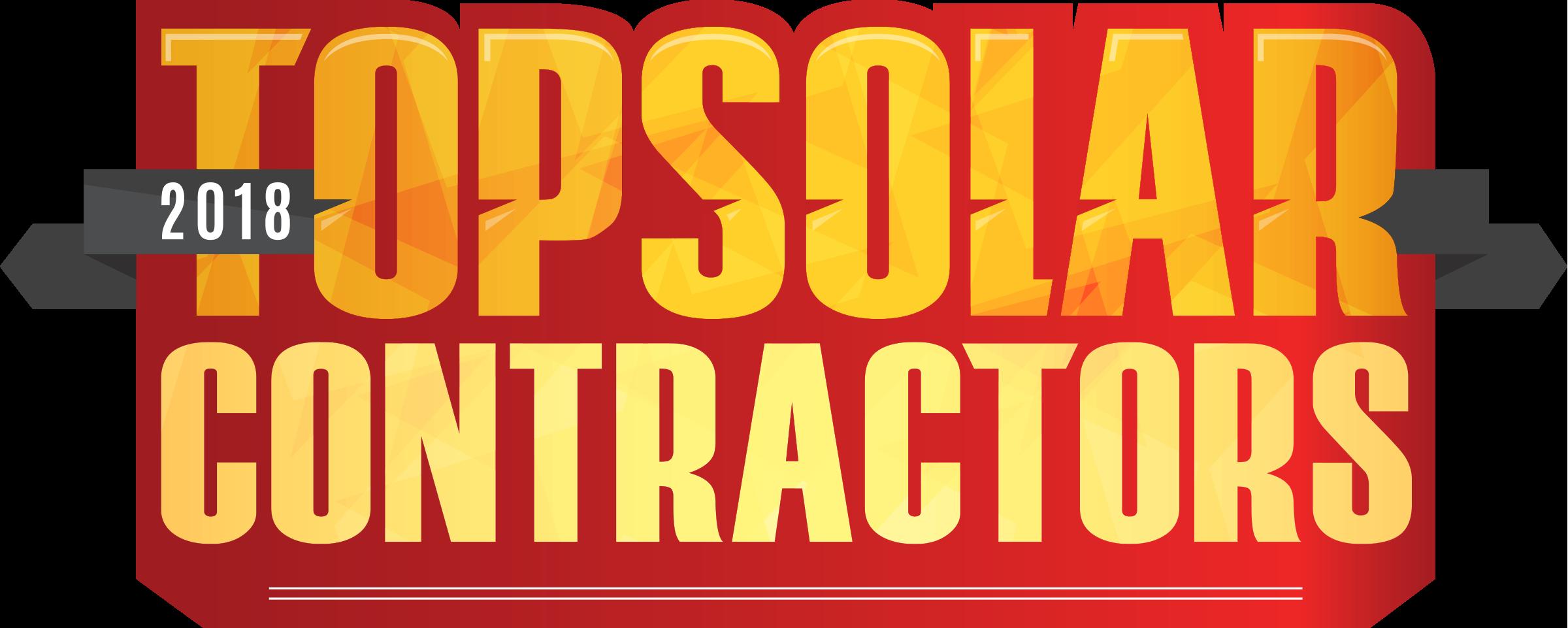 2018 Top Solar Contractor Solar Power World